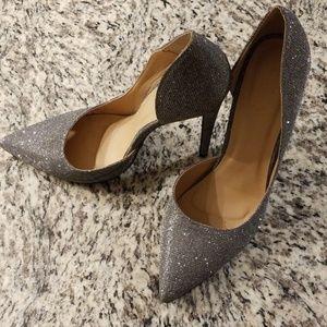 Charlotte Russe Silver Heels